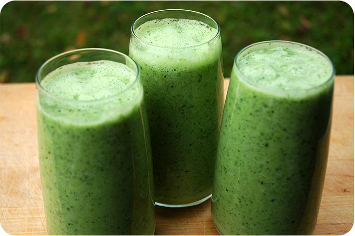 grønn drikke